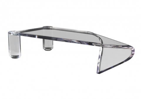 diamond cantilevered acrylic coffee table