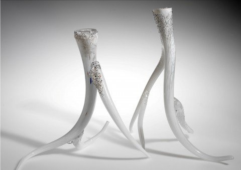 hand-blown antler candlesticks by justin parker