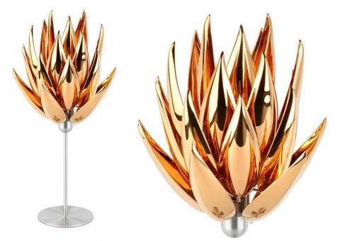 aloe bud table lamp by jeremy cole