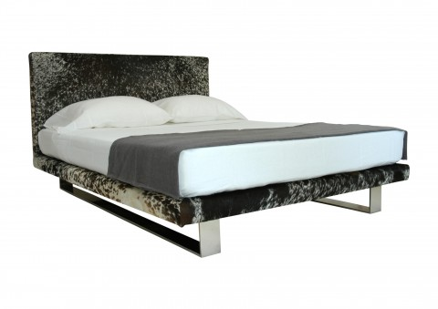 modernist cowhide platform bed