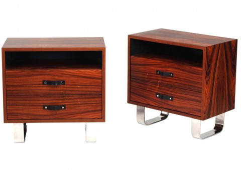 rosewood modernist series nightstand