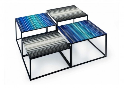 linear stack coffee side table