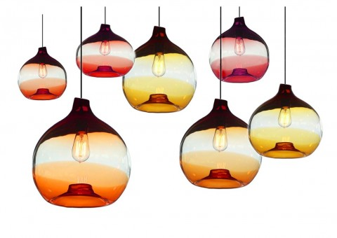 waterdrop hand-blown glass ceiling pendant