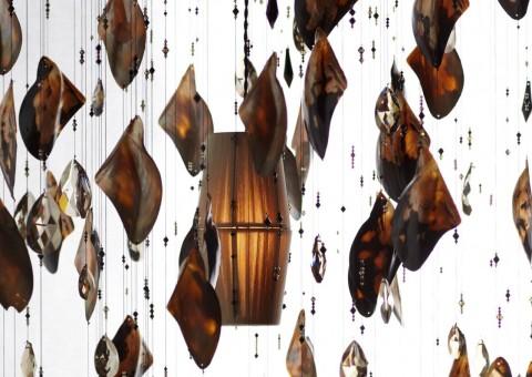 brownlip oyster swarovski crystal chandelier