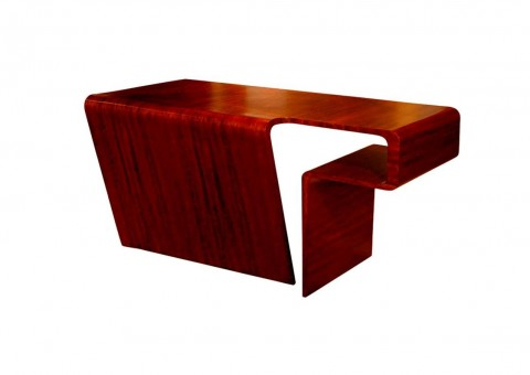 wood waterfall writing desk by ladislav czernek