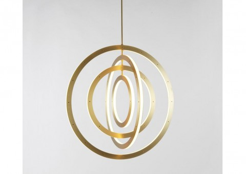 halo vertical ring chandelier
