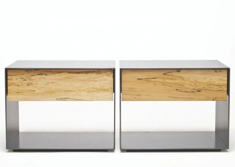 steel box series nightstand with drawer