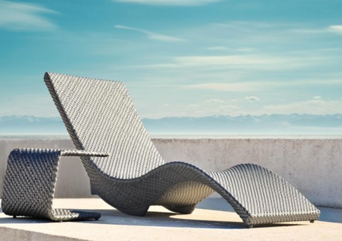 mermaid series chaise lounges by kenneth cobonpue