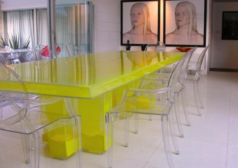 eps powder filled acrylic dining table