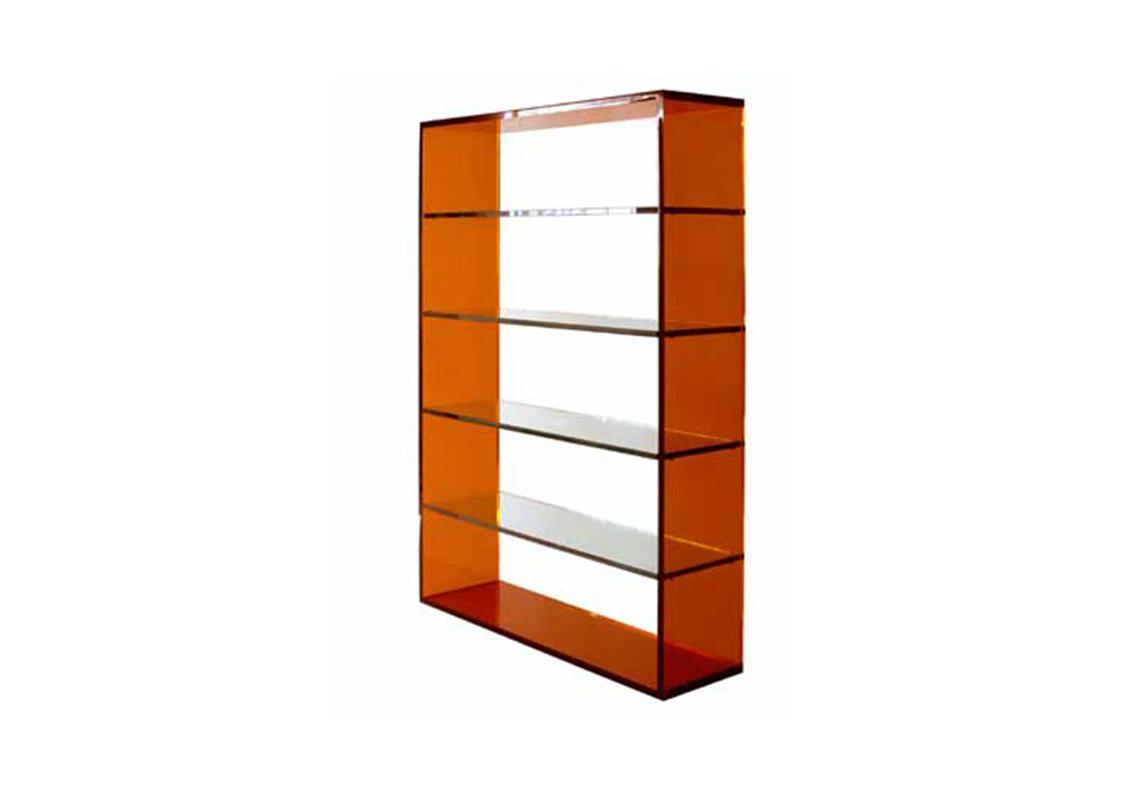 Acrylic Bookcase Contemporary Luxury Furniture Lighting