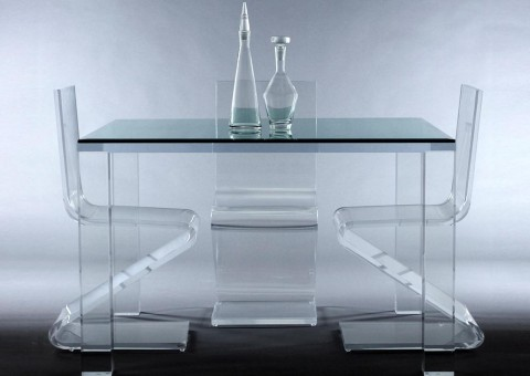 avino acrylic dining table