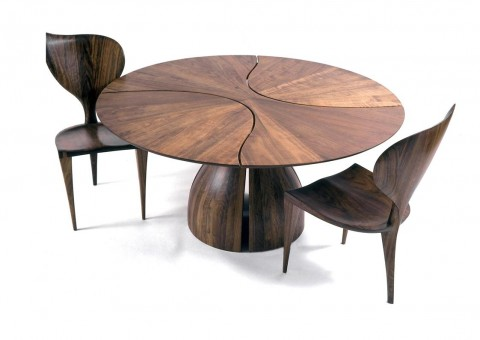 lily pad dining table by michael coffey