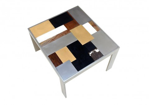 patchwork metal stone tables