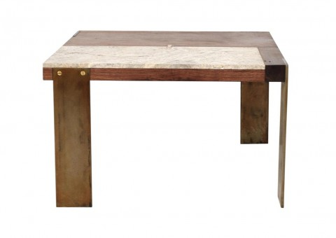 patchwork wood travertine tables