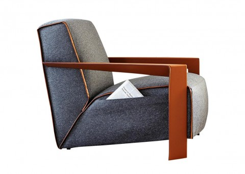 wood frame chelsea lounge chair