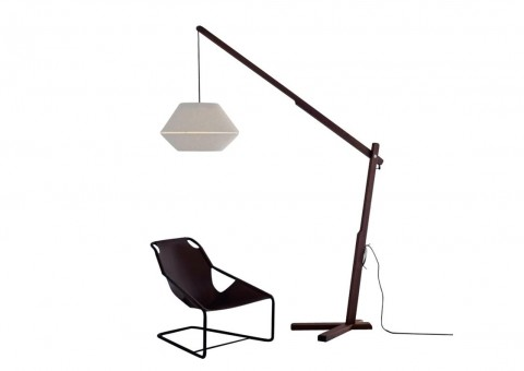 oops walnut frame floor lamp