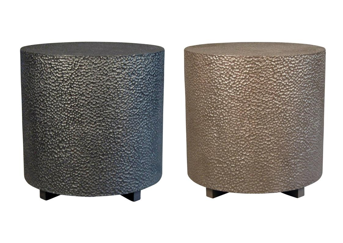 Incroyable Hand Hammered Side Tables