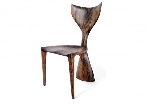 whale tail chair by michael coffey