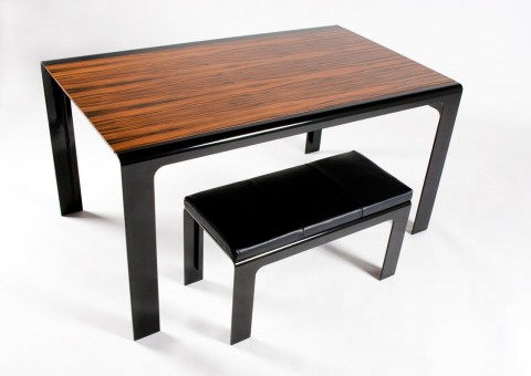 macassar ebony gloss black executive desk by adam simha