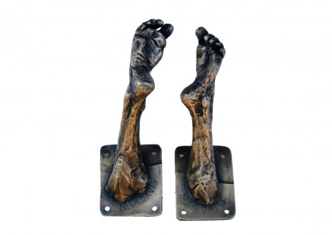 bronze feet sculpture hook