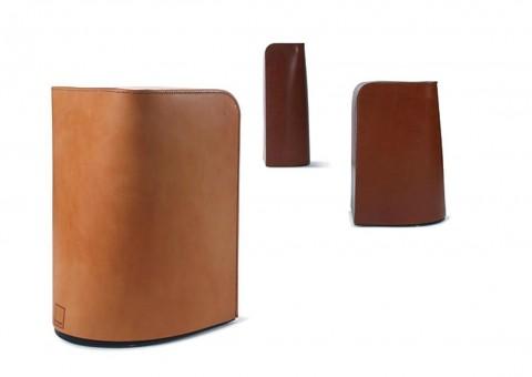 saddle leather stool