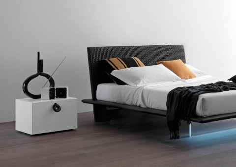 plana platform bed with acrylic base