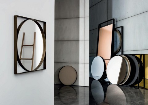circle in a square wall mirror