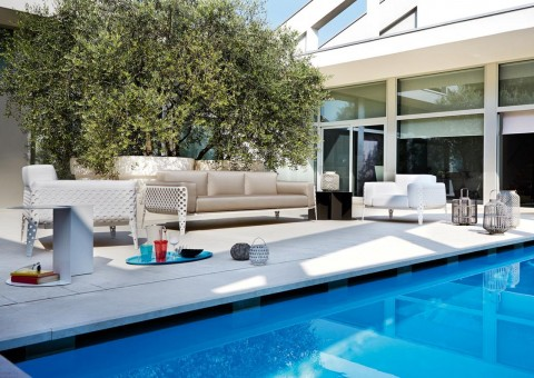 poise outdoor series designer chaise lounges