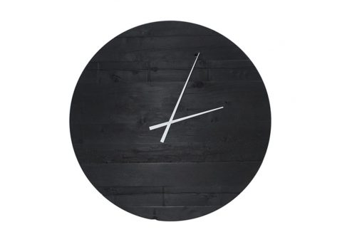water tower charred wall clock