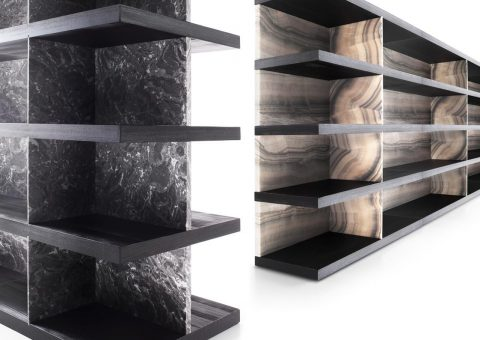 shiro marble walnut wall system